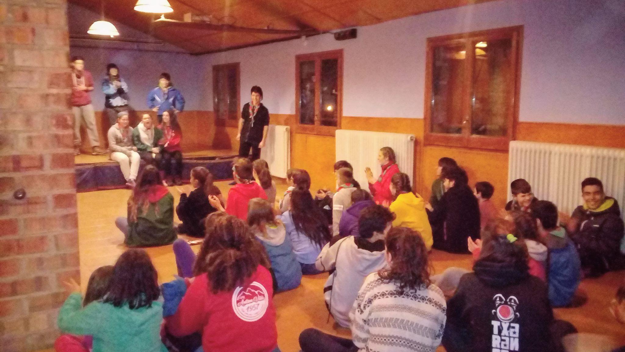 Activitat de l'AEiG Anton Vilà durant els campaments d'hivern a Castellar de n'Hug